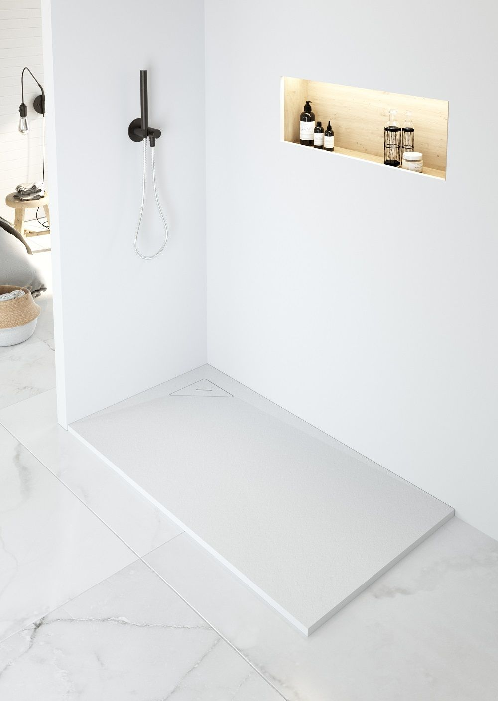 shower tray corner